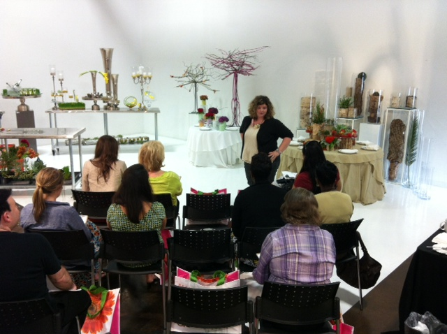 Mandy teaching a class at Accent Decor