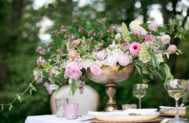 Styling by Ginny Branch, florals by Amy Osaba, photography by Becca Stanley, products from Accent Decor