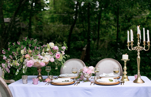 Styling by Ginny Branch, florals by Amy Osaba, products from Accent Decor
