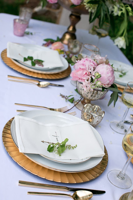 Styling by Ginny Branch; florals by Amy Osaba; photography by Becca Stanley;  products from Accent Decor