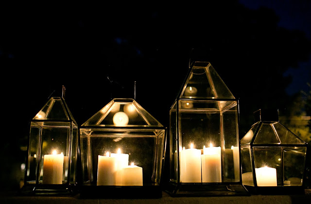 Lanterns and Candlelight #accentdecor