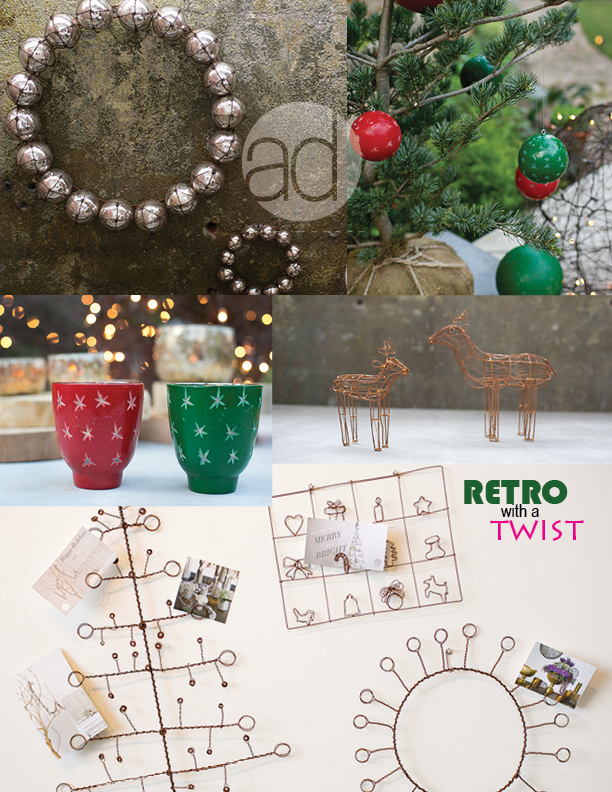 Holiday Retro with a Twist with Accent Decor